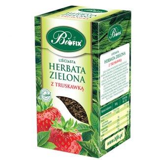 Bi Fix, Zielona z truskawką, herbata liściasta, 100 g - zdjęcie produktu