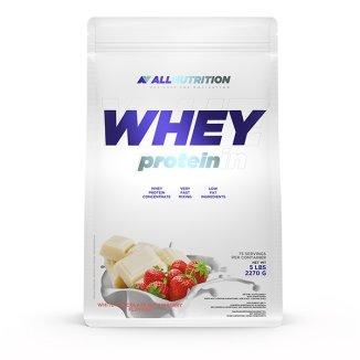 Allnutrition, Whey Protein, smak białej czekolady z truskawką, 2270 g - zdjęcie produktu