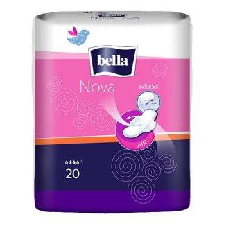 Bella Nova, podpaski higieniczne Softiplait ze skrzydełkami, 20 sztuk - zdjęcie produktu