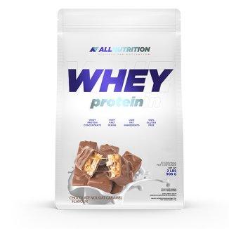 Allnutrition Whey Protein, smak czekoladowo-orzechowo-karmelowy, 908 g - zdjęcie produktu