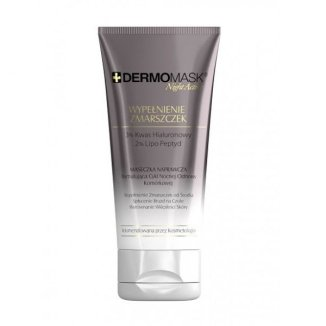 L'Biotica Dermomask Night Active, maseczka naprawcza stymulująca cykl nocnej odnowy komórkowej, Wypełnienie Zmarszczek, 30 ml - zdjęcie produktu