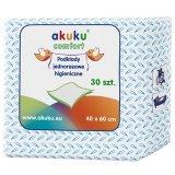 Akuku, podkłady higieniczne jednorazowe 40 x 60 cm, 30 sztuk - miniaturka zdjęcia produktu
