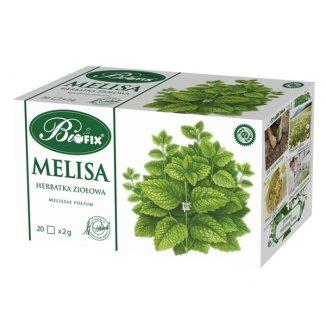 Bi Fix, Melisa, herbata ziołowa, 20 saszetek - zdjęcie produktu