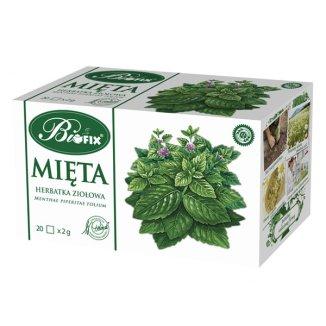 Bi fix Mięta, herbatka ziołowa, 2 g x 20 saszetek - zdjęcie produktu