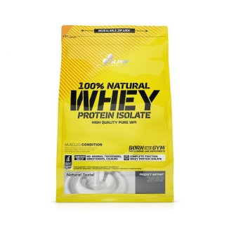 Olimp 100% Natural Whey Protein Isolate, smak naturalny, 600 g - zdjęcie produktu