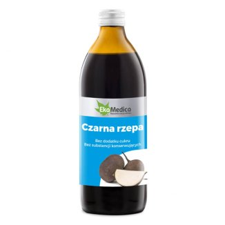 EkaMedica Czarna Rzepa, sok, 500 ml - zdjęcie produktu
