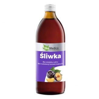 EkaMedica Śliwka, sok, 500 ml - zdjęcie produktu
