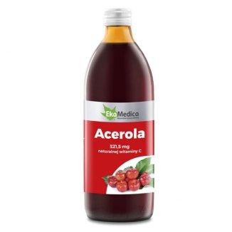 EkaMedica Acerola, sok, 500 ml - zdjęcie produktu