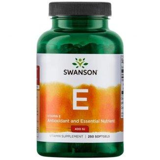 Swanson, Natural Vitamin E 400 IU, 250 kapsułek - zdjęcie produktu