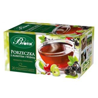 Bi Fix, Premium Porzeczka z agrestem i wiśnią, herbatka owocowa, 20 saszetek - zdjęcie produktu