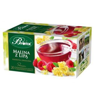 Bi Fix, Premium Malina z lipą, herbatka owocowa, 20 saszetek - zdjęcie produktu