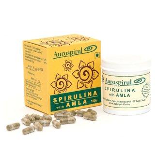 Aurospirul, Spirulina z amlą, 100 kapsułek - zdjęcie produktu