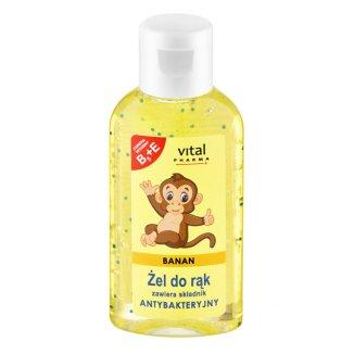 Vital Pharma, żel do rąk ze składnikiem antybakteryjnym, banan, 50 ml - zdjęcie produktu