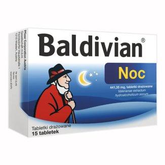 Baldivian Noc, 441,35 mg, 15 tabletek - zdjęcie produktu