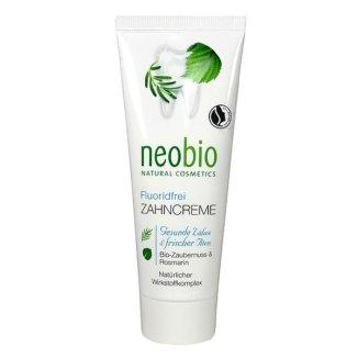 NeoBio, pasta do zębów z ksylitolem, wyciągiem z oczaru wirgilskiego i rozmarynu, bez fluoru, 75 ml - zdjęcie produktu
