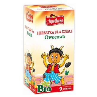 Apotheke, herbatka owocowa BIO, po 9 miesiącu, 20 saszetek - zdjęcie produktu