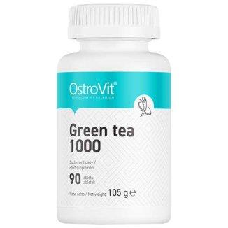 OstroVit Green Tea 1000, zielona herbata, 90 tabletek - zdjęcie produktu
