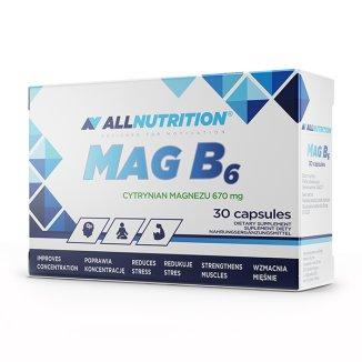 Allnutrition Mag B6, cytrynian magnezu + witamina B6, 30 kapsułek - zdjęcie produktu