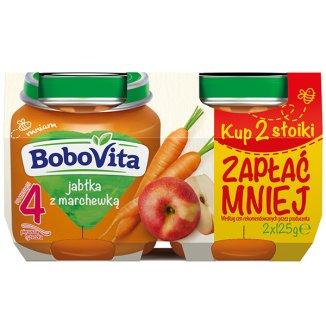 BoboVita, Deser, Pierwsza łyżeczka, Jabłka z marchewką, po 4 miesiącu, 2 x 125 g - zdjęcie produktu