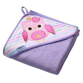 BabyOno, okrycie kąpielowe z kapturkiem, 100 x 100 cm, frotte, fioletowe, 1 sztuka - zdjęcie produktu