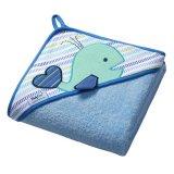 BabyOno, okrycie kąpielowe z kapturkiem, 100 x 100 cm, frotte, niebieskie, 1 sztuka - miniaturka zdjęcia produktu