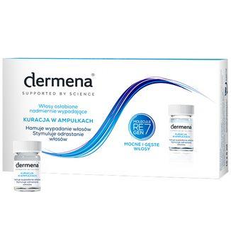 Dermena Hair Care, kuracja hamująca wypadanie włosów, 5 ml x 15 ampułek - zdjęcie produktu