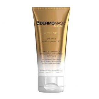 L'Biotica Dermomask Night Active, maseczka naprawcza złote nici, 30 ml - zdjęcie produktu