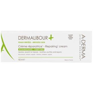 A-Derma Dermalibour+, krem regenerujący do twarzy i ciała, skóra podrażniona, 100 ml - zdjęcie produktu