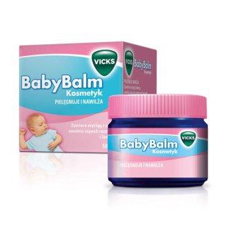 Vicks BabyBalm pelęgncyjno-nawilżający kosmetyk dla dzieci od 6 miesiąca życia, 50 g - zdjęcie produktu