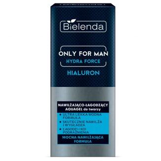 Bielenda Only for Men Hydra Force, nawilżająco-łagodzący aquagel do twarzy, 50 ml - zdjęcie produktu