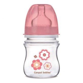 Canpol Babies EasyStart Newborn Baby, butelka antykolkowa, szerokootworowa, Kwiatki, 0-3 miesiące, 120 ml - zdjęcie produktu
