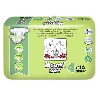 Pieluszki, Muumi Baby, rozmiar 4, Maxi, 7-14 kg, 23 sztuki - zdjęcie produktu
