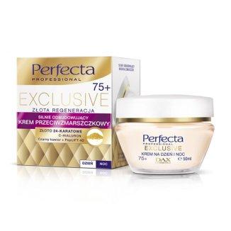 Perfecta Exclusive, silnie odbudowujący krem przeciwzmarszczkowy na dzień i noc 75+, 50 ml - zdjęcie produktu