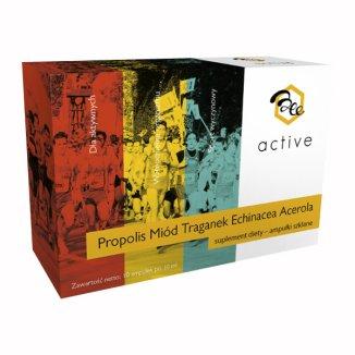 BeeActive Propolis Miód Traganek Echinacea Acerola, 10 ml x 20 ampułek - zdjęcie produktu