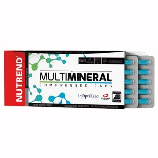 Nutrend, Multimineral Compressed, minerały w formie chelatów, 60 kapsułek - zdjęcie produktu