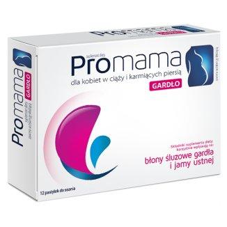 ProMama Gardło, 12 pastylek do ssania - zdjęcie produktu
