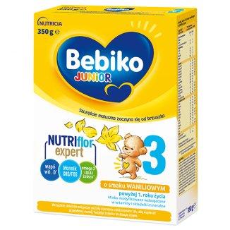 Bebiko 3 Junior, mleko modyfikowane, dla dzieci powyżej 1 roku życia, smak waniliowy, 350 g - zdjęcie produktu