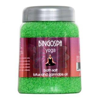 Bingospa, sól do kąpieli, Yoga, lotos i olej cannabis, 850 g - zdjęcie produktu