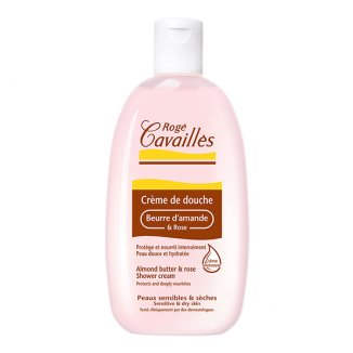 Roge Cavailles, krem pod prysznic, masło migdałowe i kwiat róży, 250 ml - zdjęcie produktu