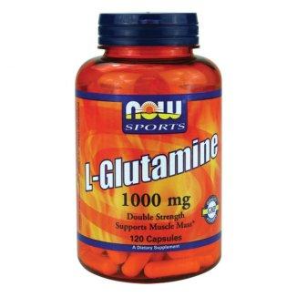 Now Foods, L-Glutamine, 1000 mg, 120 kapsułek - zdjęcie produktu
