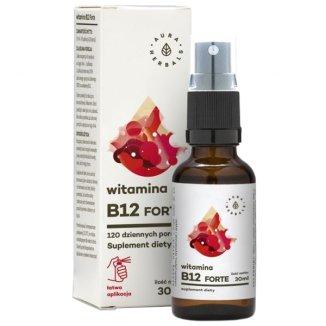Aura Herbals, Witamina B12 Forte, aerozol, 30 ml - zdjęcie produktu