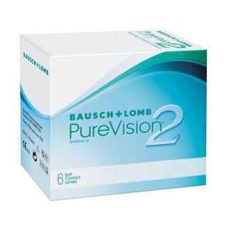 Soczewki kontaktowe Purevision2, 30-dniowe, -11,00, BC 8,6, 6 sztuk KRÓTKA DATA - zdjęcie produktu