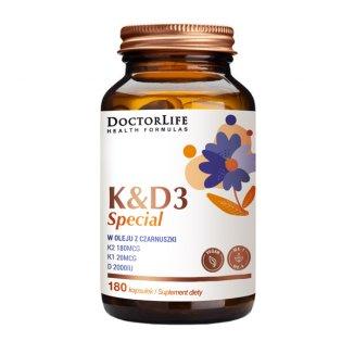 Doctor Life K&D Special w oleju z czarnuszki, 180 kapsułek - zdjęcie produktu
