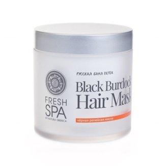 Natura Siberica Fresh Spa Detox, czarna łopianowa maska do włosów, intensyfikacja wzrostu, 400 ml - zdjęcie produktu