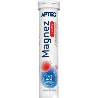 Apteo Magnez Skurcz, smak pomarańczowy, 20 tabletek musujących - zdjęcie produktu