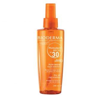 Bioderma Photoderm Bronz, olejek przyspieszający opalanie, ochronny, SPF30, 200 ml - zdjęcie produktu