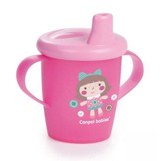 Canpol, kubek niekapek z uchwytami Toys, od 9 miesiąca, różowy, 250 ml - zdjęcie produktu