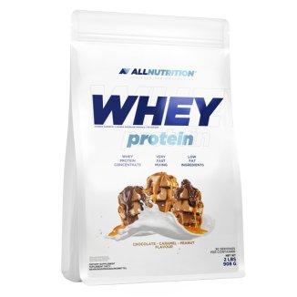 Allnutrition, Whey Protein, białko, smak czekoladowo-orzechowo-karmelowy, 908 g - zdjęcie produktu