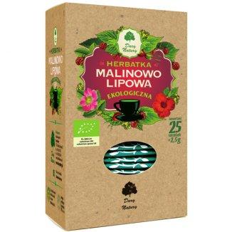 Dary Natury Herbatka malinowo-lipowa, ekologiczna, 2,5 g x 25 saszetek - zdjęcie produktu
