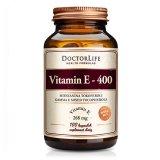 Doctor Life, Vitamin E 400, witamina E mieszanina tokoferoli, 100 kapsułek - miniaturka zdjęcia produktu